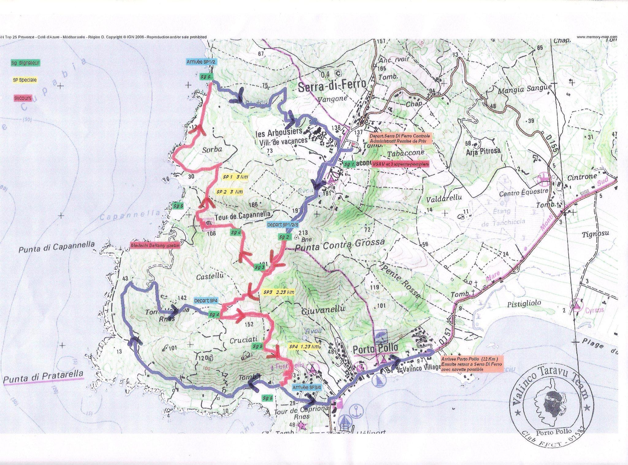 Première course enduro organisée par le Valinco Taravu Team
