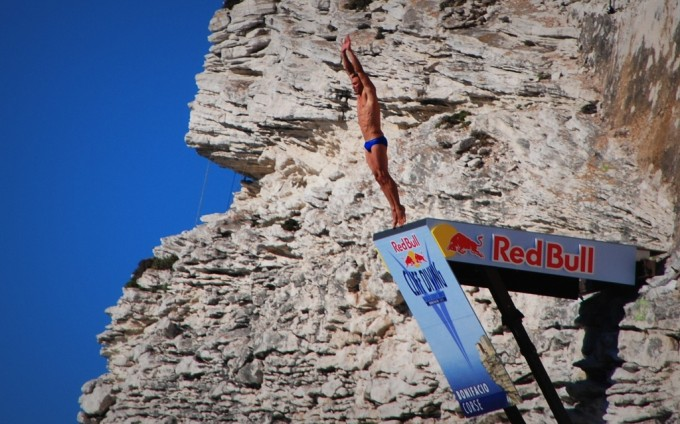 Red bull Cliff Diving à Bonifacio le 23/06/12