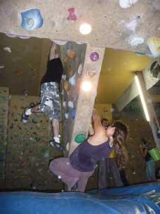 Contest de bloc à la salle d'escalade d'Ajaccio le 9 Mars
