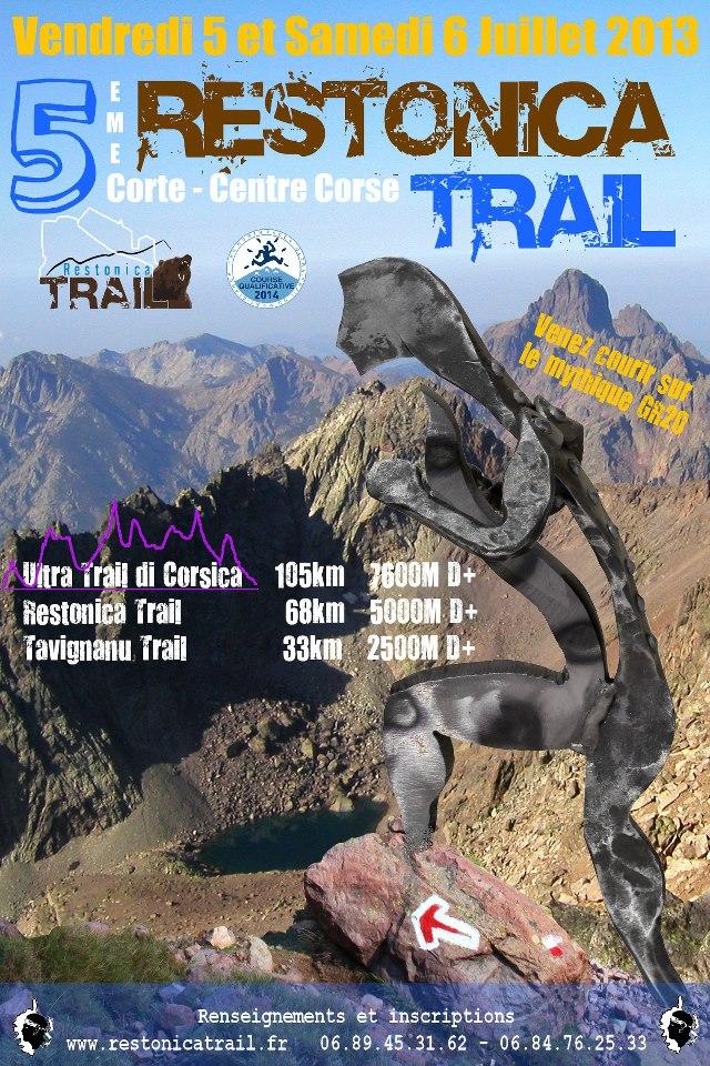 Restonica,Tavignanu et Ultra Trail : départ Vendredi 4 Juillet et Samedi 5 !