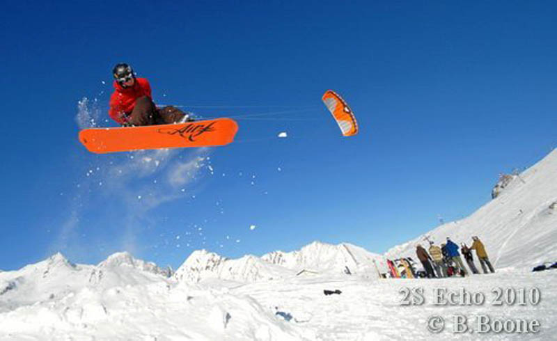 Yann Freund et le Corsica Snowkite Projet