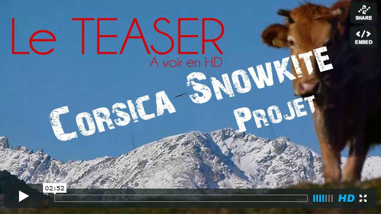 Teaser du Corsica Snowkiteproject